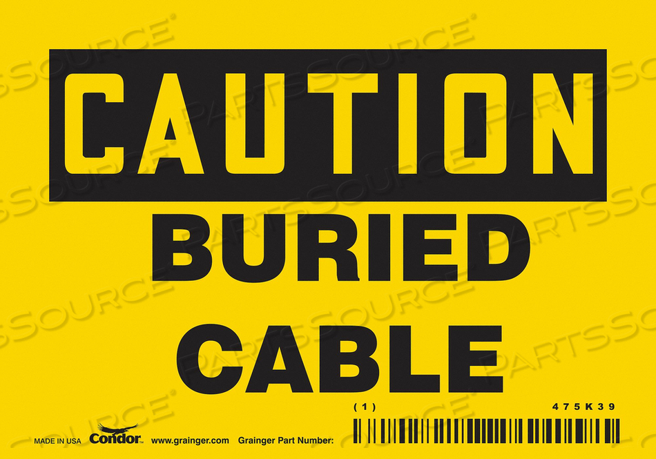 SAFETY SIGN 5 W 3-1/2 H 0.004 THICK by Condor