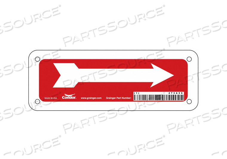 SAFETY SIGN 7 W 2-1/2 H 0.032 THICK by Condor