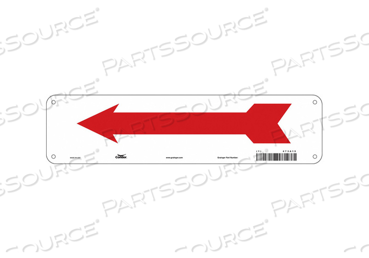 SAFETY SIGN 14 W 3-1/2 H 0.032 THICK by Condor
