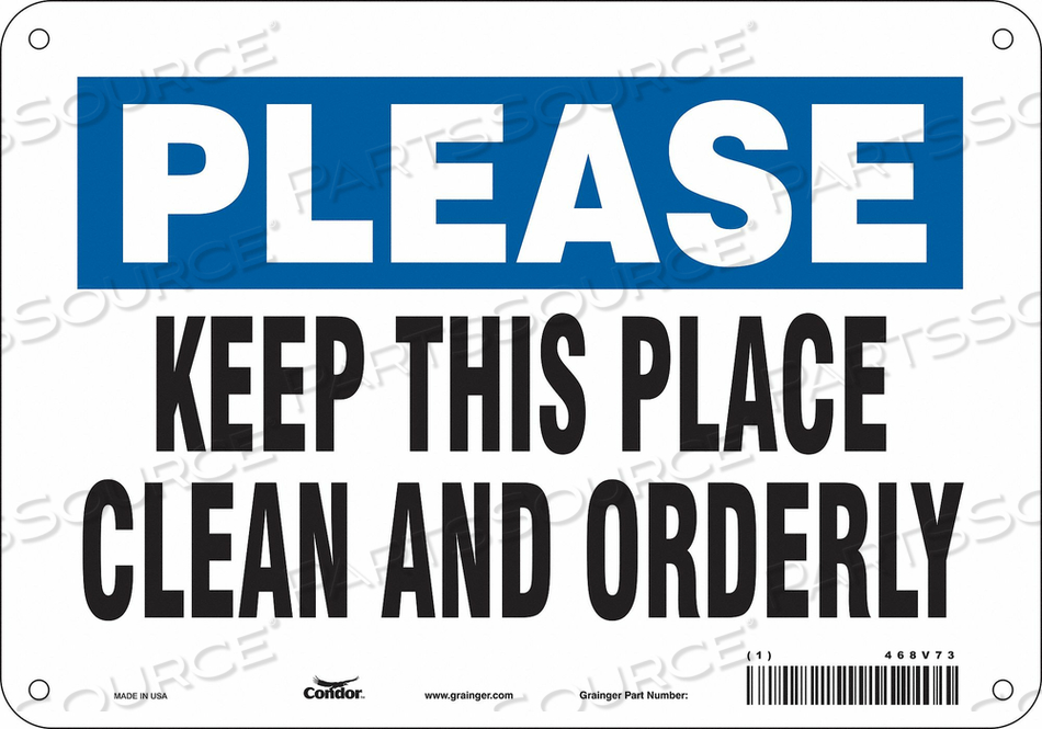 SAFETY SIGN 10 7 0.055 THICKNESS by Condor