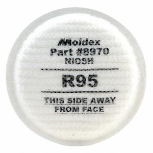 FILTER WHITE THREADED PK10 by Moldex