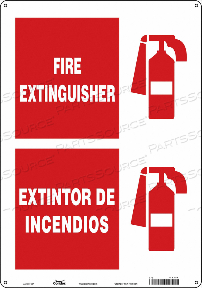 SAFETY SIGN 14 W 20 H 0.055 THICKNESS by Condor