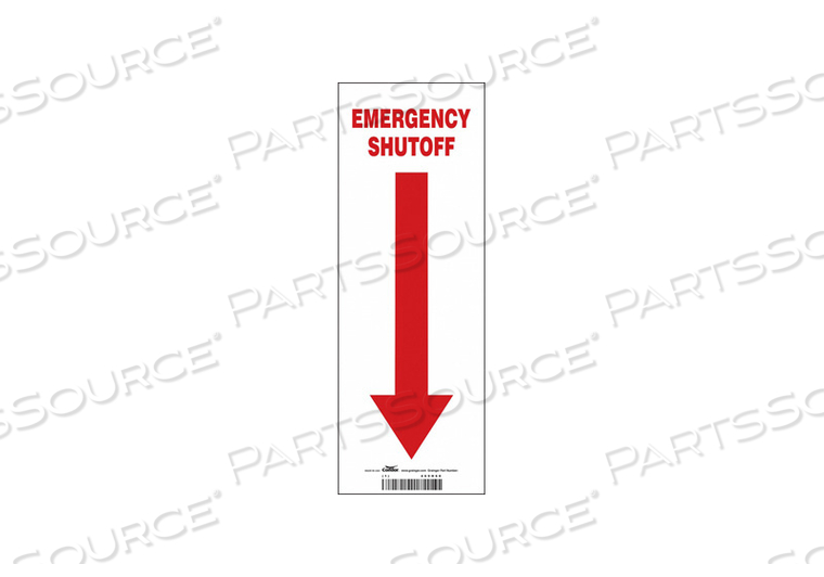 SAFETY SIGN 5 W 14 H 0.004 THICKNESS by Condor