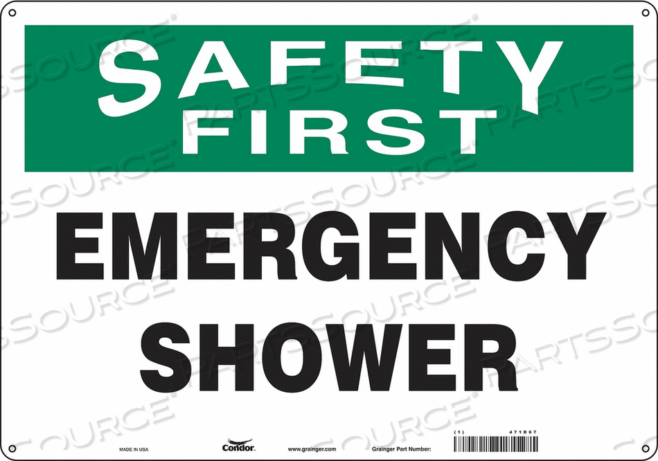 SAFETY SIGN 20 W X 14 H 0.055 THICK by Condor