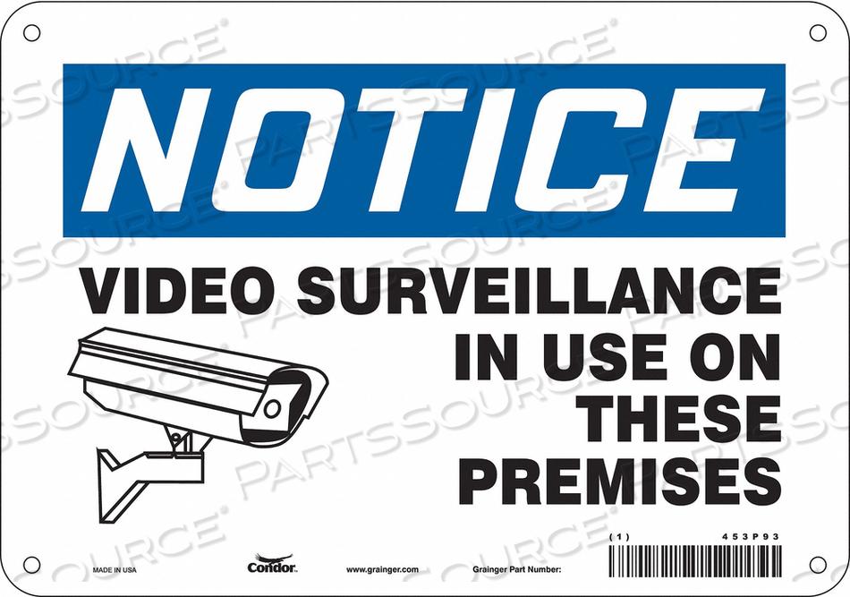 SECURITY SIGN 7 H 10 W ALUMINUM by Condor