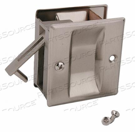 POCKET DOOR PASSAGE LOCK- SATIN NICKEL by John Sterling