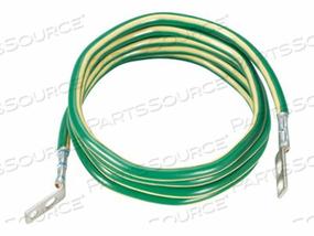 PANDUIT TELECOMMUNICATION EQUIPMENT BONDING CONDUCTOR KIT - RACK GROUNDING KIT - GREEN WITH YELLOW STRIPE - 12 FT by Panduit