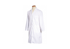 LAB COAT S WHITE 39-1/2 IN L by Fashion Seal