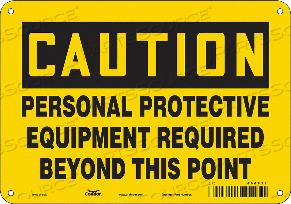 J6965 SAFETY SIGN 7 H 10 W ALUMINUM by Condor