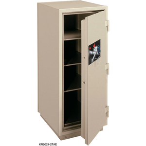 2 HR FIRE RESISTANT SAFE 25-1/2 X 28-7/8 X 60-1/2 ELECTRONIC & KEY LOCK TAUPE by Fire King