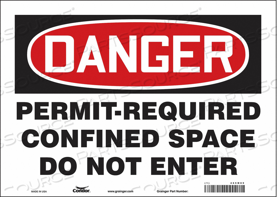 J6941 SAFETY SIGN 10 H 14 W VINYL by Condor