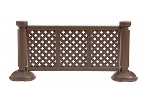 FENCE PANEL BROWN 38-1/2 X 66-1/4 by Grosfillex