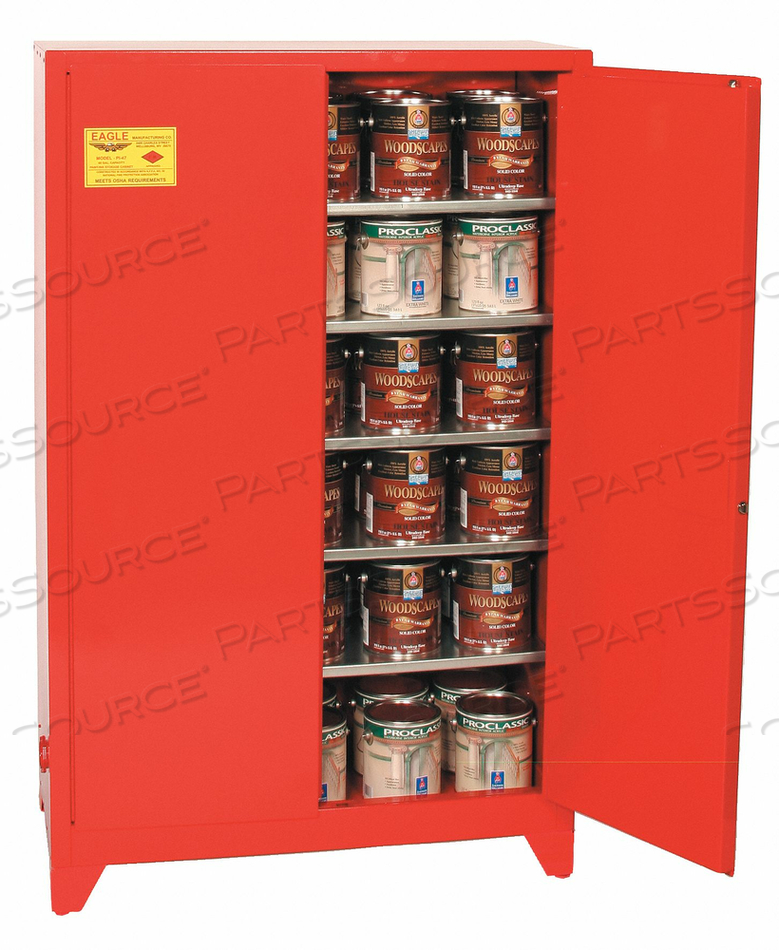PAINTS AND INKS CABINET 40 GAL. YELLOW by Eagle