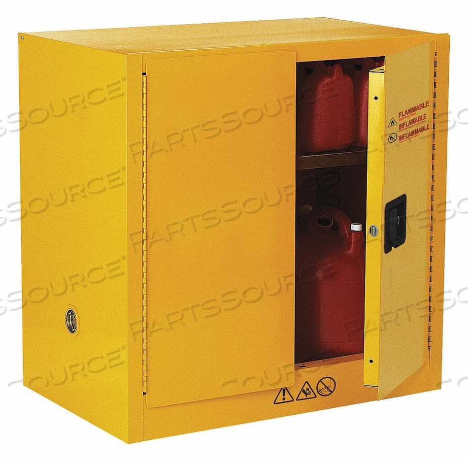 FLAMMABLE SAFETY CABINET 22 GAL. YELLOW by Condor