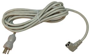 POWER CORD, 15 FT, 13 A, 125 V, 16 AWG, NEMA 5-15P TO IEC 320-C13 RIGHT ANGLE, GRAY, HOSPITAL GRADE by Webber Electronics
