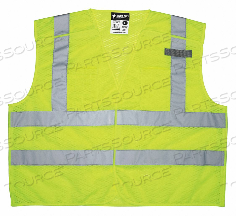 HIGH VISIBILITY VEST 4XL SIZE UNISEX by MCR Safety