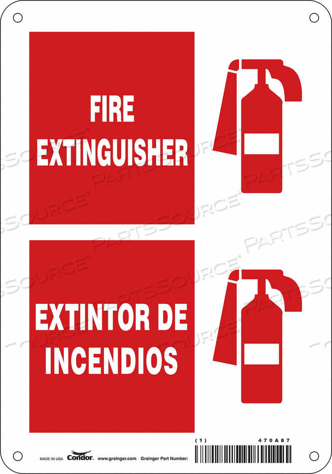SAFETY SIGN 7 W 10 H 0.070 THICKNESS by Condor