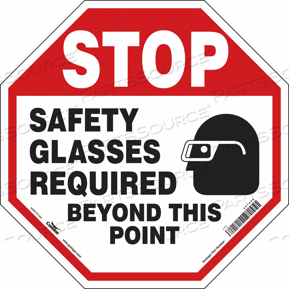 SAFETY SIGN 24 W 24 H 0.004 THICKNESS by Condor