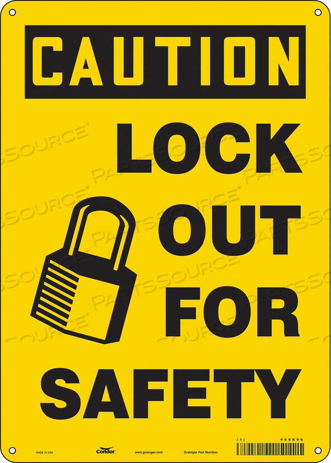 K0106 SAFETY SIGN 10 W 14 H 0.055 THICKNESS by Condor