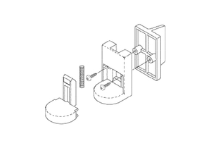 SIDE WALL LATCH KIT by Replacement Parts Industries (RPI)