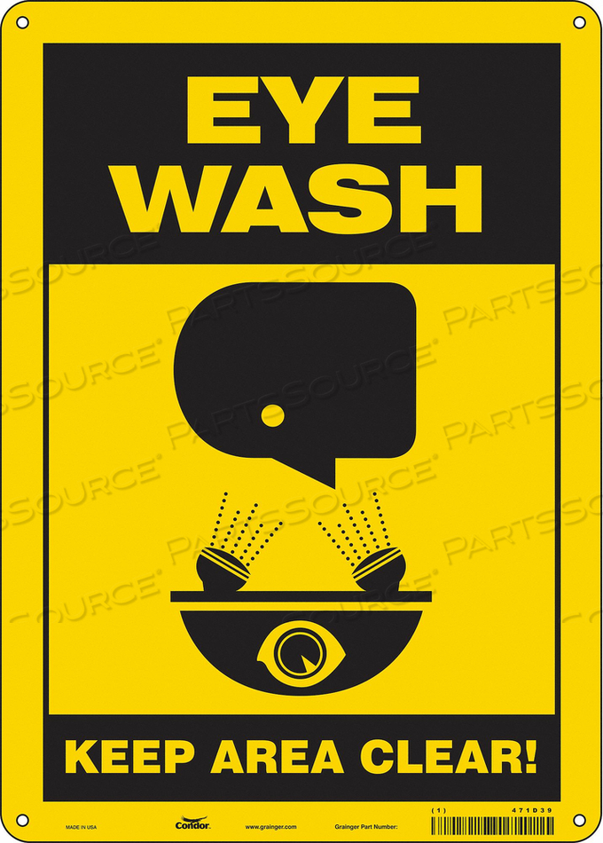 SAFETY SIGN 10 W X 14 H 0.060 THICK by Condor