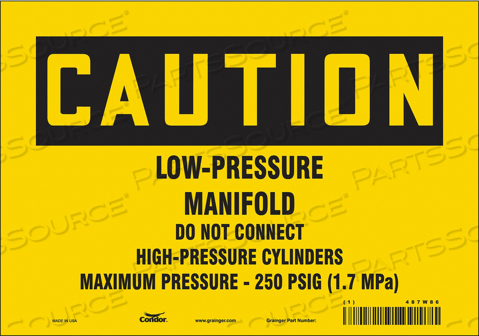 CYLINDER SIGN 10 W 7 H 0.032 THICKNESS by Condor