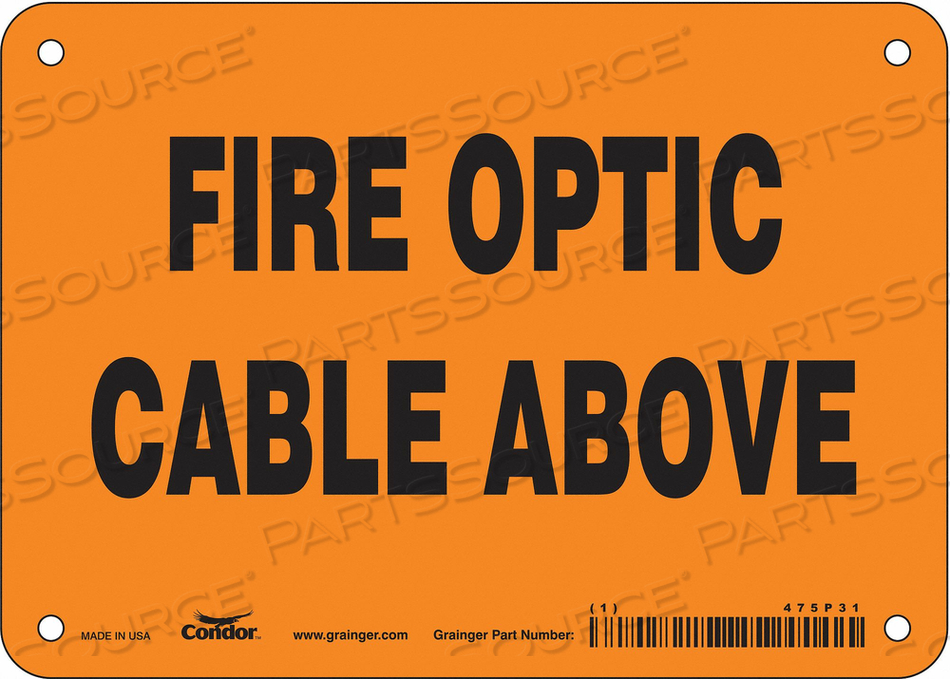 SAFETY SIGN 7 W 5 H 0.032 THICKNESS by Condor