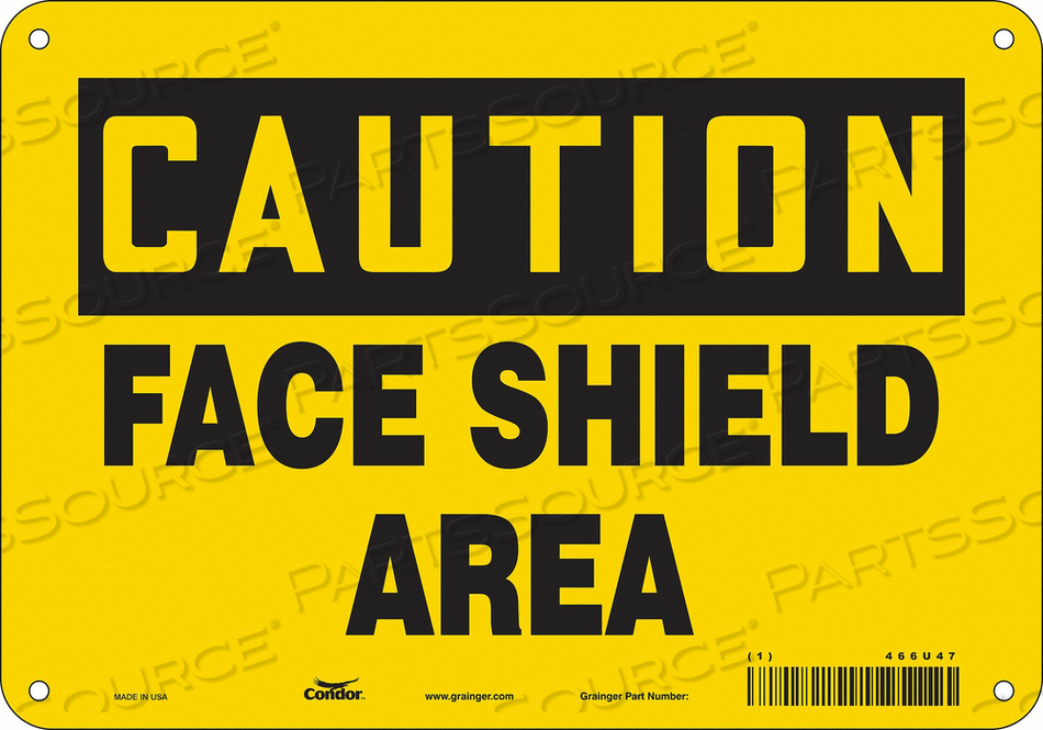 K2002 SAFETY SIGN 10 W 7 H 0.032 THICKNESS by Condor