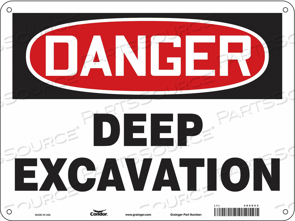 CONSTRUCTION SIGN 24 W 18 H 0.055 THICK by Condor