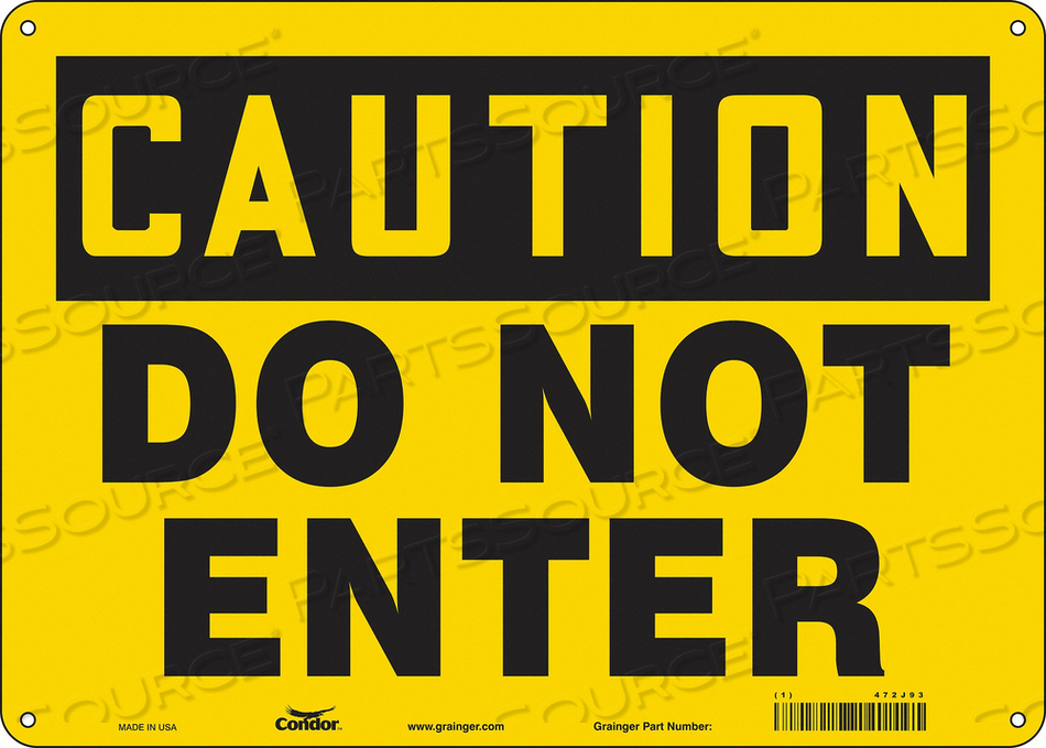 K1879 SAFETY SIGN 14 W 10 H 0.060 THICKNESS by Condor