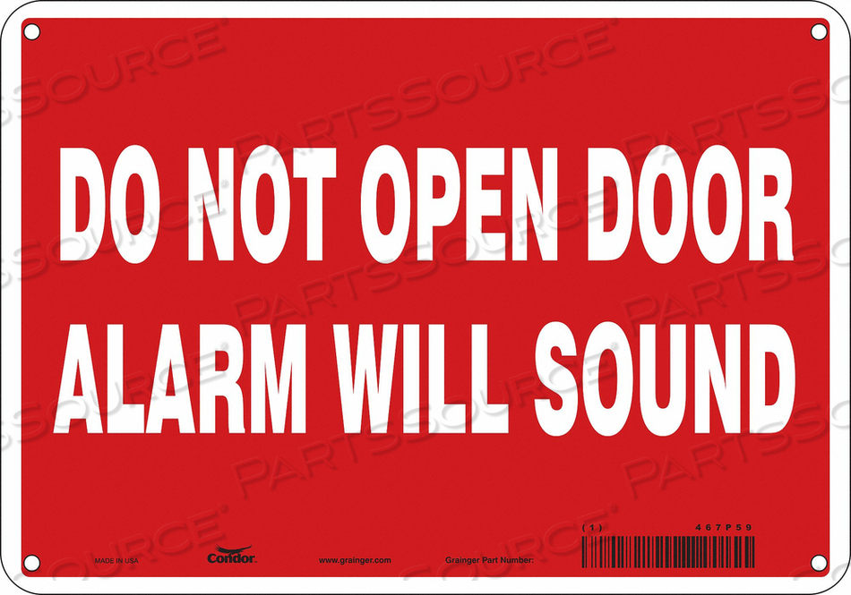 SAFETY SIGN 7 X10 VINYL by Condor
