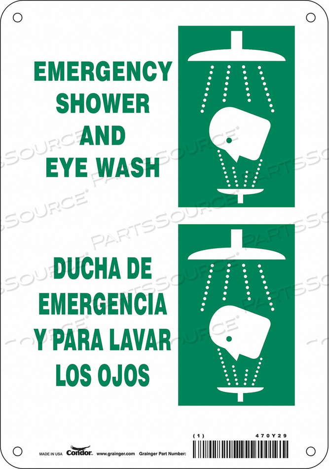 J6979 SAFETY SIGN 7 W X 10 H 0.060 THICK by Condor