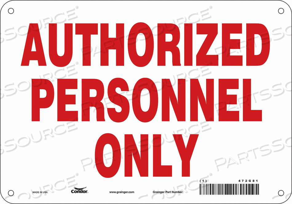 J7005 SAFETY SIGN 10 W 7 H 0.060 THICKNESS by Condor