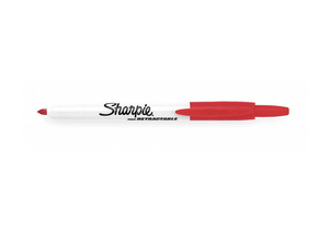 F8727 PERMANENT MARKER RED FINE PK12 by Sharpie