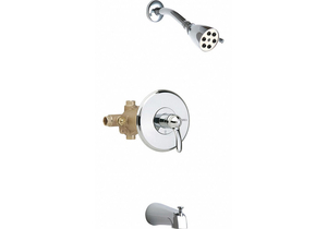 THERMOSTATIC BALANCING TUB AND SHOWER by Chicago Faucets