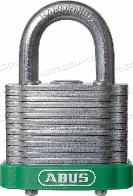 D8956 LOCKOUT PADLOCK KA GREEN 1-3/8 H by Abus