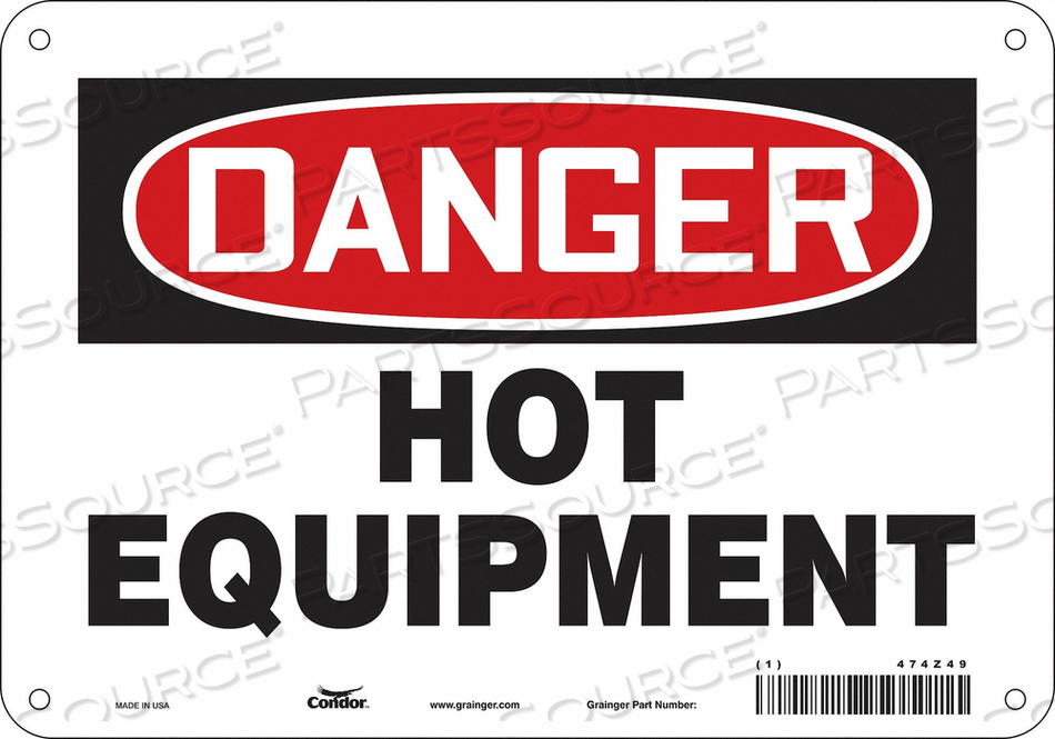 DANGER SIGN 10 W X 7 H 0.055 THICK by Condor