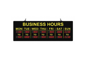 LED BUSINESS SIGN 20 L PLASTIC 1 W by CM Global