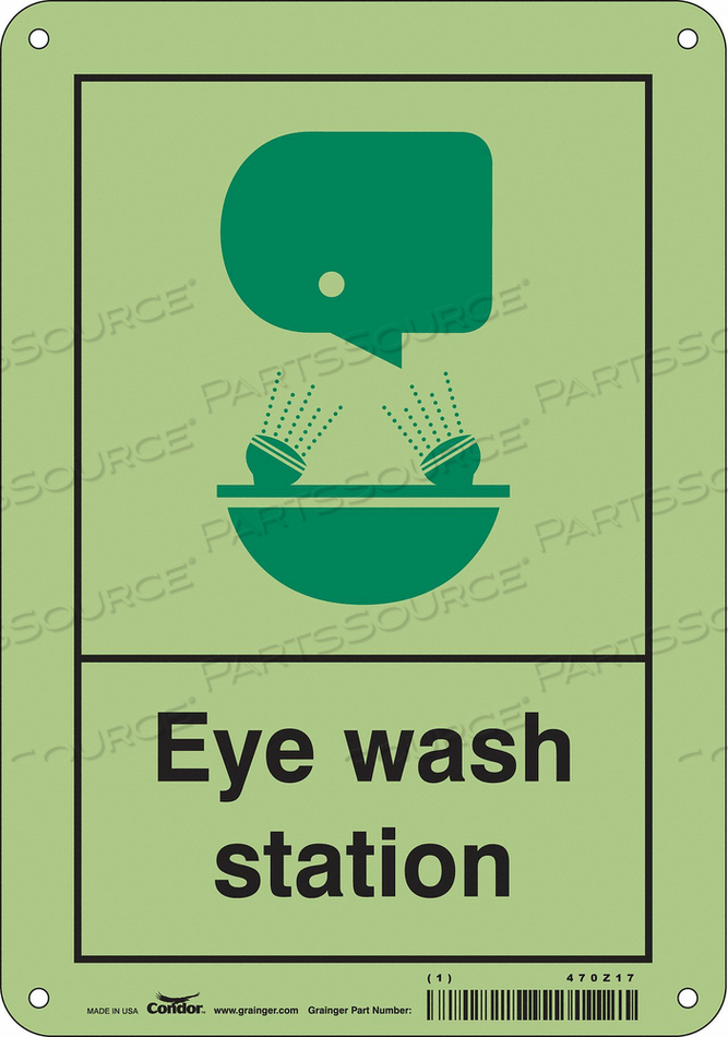 SAFETY SIGN 7 W X 10 H 0.040 THICK by Condor