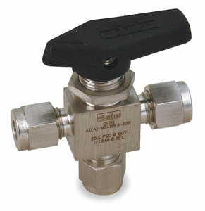 SS BALL VALVE 3-WAY COMP 1/4 IN by Parker Hannifin Corporation