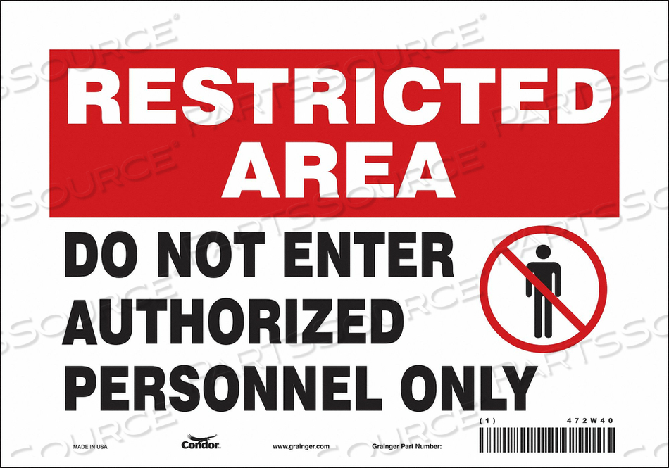 J7025 SAFETY SIGN DO NOT ENTER 7 X10 by Condor