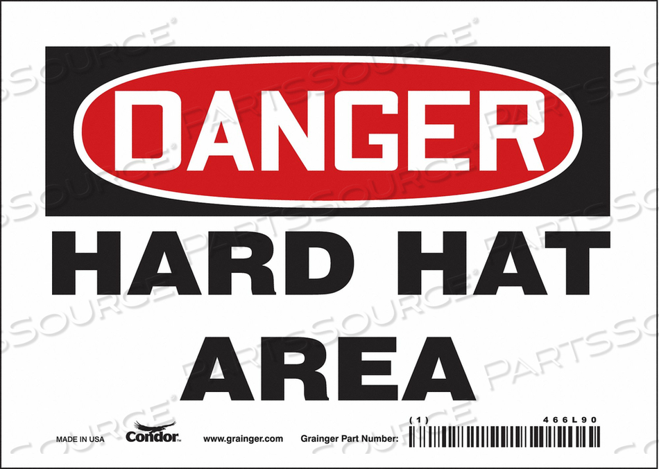 J6929 SAFETY SIGN PERSONAL PROTECTION 5 H by Condor