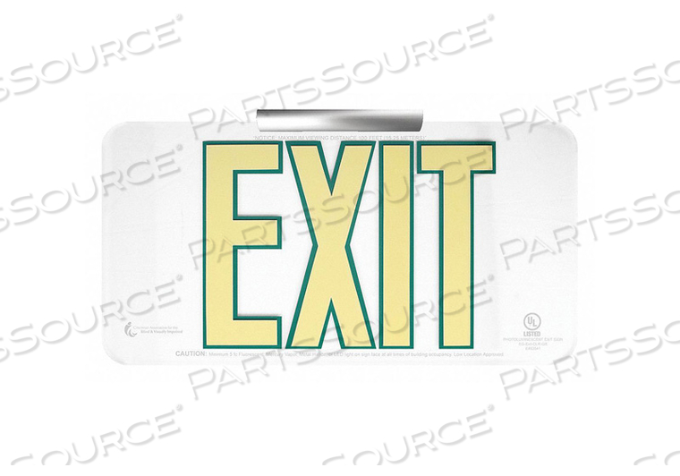 EXIT SIGN 15-1/4 W 8-1/2 H 0.208 THICK by Ability One