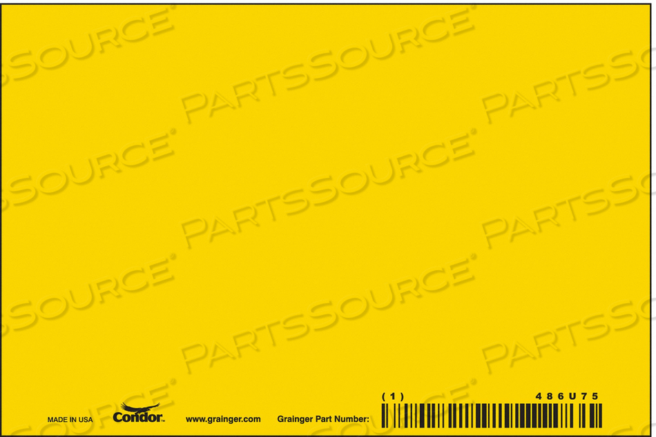 SAFETY SIGN 6 W 4 H 0.320 THICK PK10 by Condor