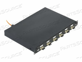 "PANDUIT NETKEY PRE-LOADED FIBER DRAWER - FIBER-OPTIC SPLICE TRAY - RACK MOUNTABLE - SC MM X 6 - BLACK, ELECTRIC IVORY - 1U - 19"" by Panduit"