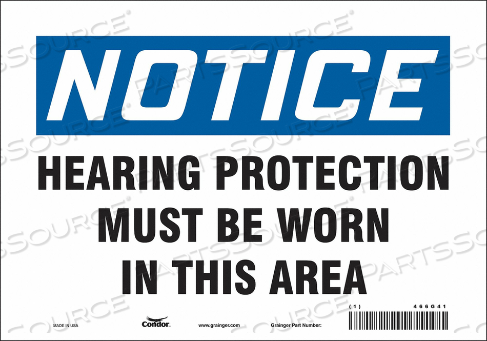 J6996 SAFETY SIGN 10 W 7 H 0.004 THICKNESS by Condor