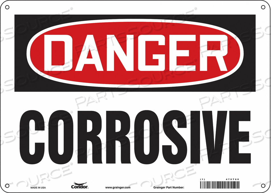 J6919 SAFETY SIGN 14 W 10 H 0.060 THICKNESS by Condor