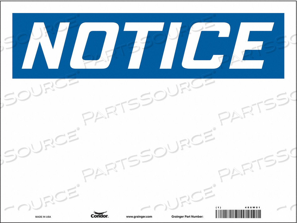 SAFETY SIGN 24 W 18 H 0.004 THICKNESS by Condor