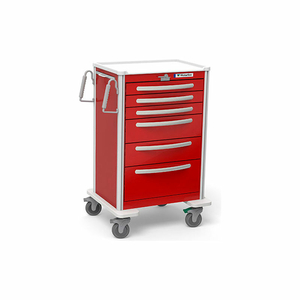 6 DRAWER UNICART, ALL RED, LEVER LOCK by Waterloo Healthcare