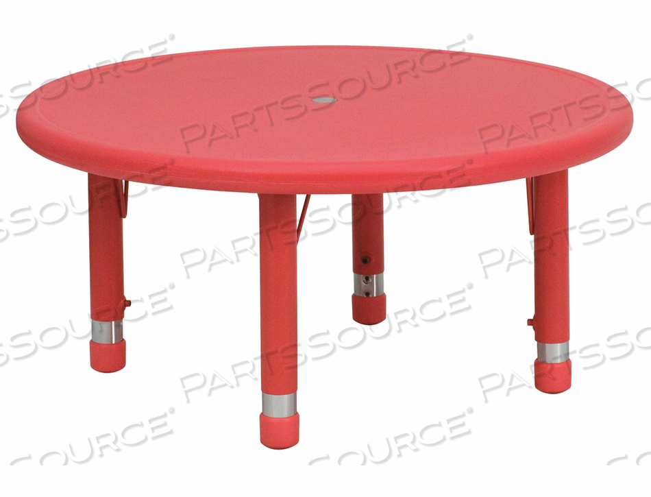 PRESCHOOL ACTIVITY TABLE RED 33 by Flash Furniture